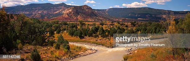 chama river in fall - timothy hearsum stock pictures, royalty-free photos & images