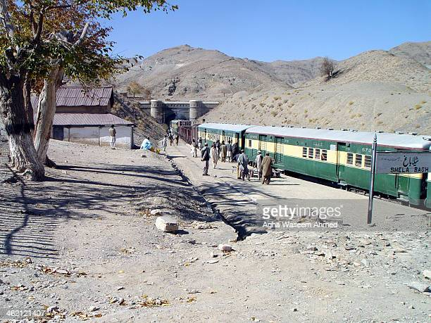 CONTENT] Chaman Mix Passenger train ready to move into Kojak tunnel built by British empire circa 1894 and was the longest Railway Tunnel of that...