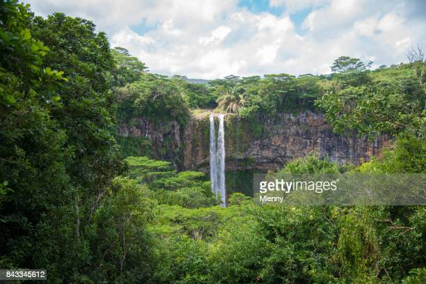 chamarel waterfall mauritius island - waterfall stock pictures, royalty-free photos & images