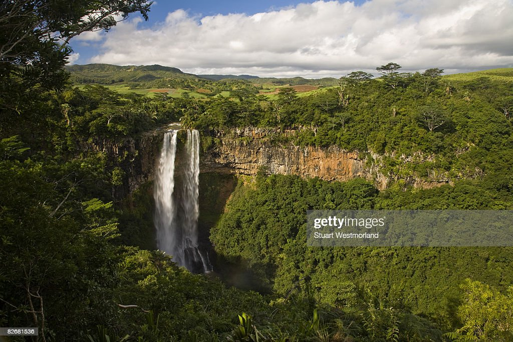 Chamarel Waterfall High Res Stock Photo Getty Images