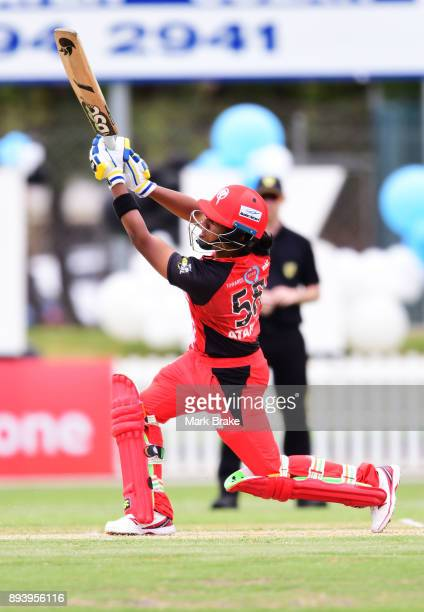 Chamari Atapattu of the Melbourne Renegades bats during the Women's Big Bash League match between the Adelaide Strikers and the Melbourne Renegades...