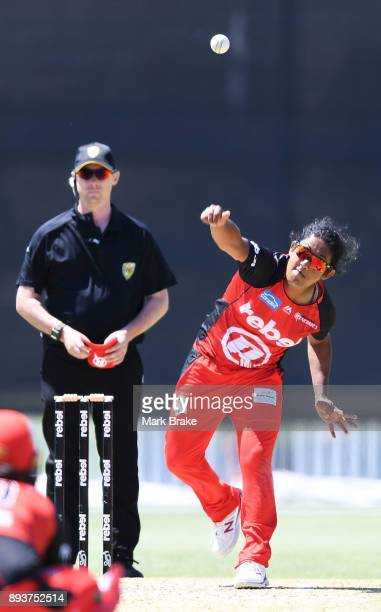 Chamari Atapattu of the Melbourne Renegades during the Women's Big Bash League match between the Melbourne Renegades and the Adelaide Strikers at...