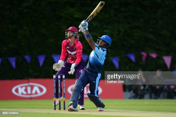 Chamari Atapattu of Yorkshire Diamonds batting during the Kia Super League 2017 match between Loughborough Lightning and Yorkshire Diamonds at The...