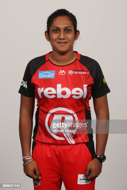 Chamari Atapattu poses during the Melbourne Renegades WBBL Headshots Session on December 4 2017 in Melbourne Australia
