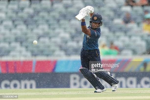 Chamari Athapaththu of Sri Lanka bats during the ICC Women's T20 Cricket World Cup match between Australia and Sri Lanka at WACA on February 24 2020...
