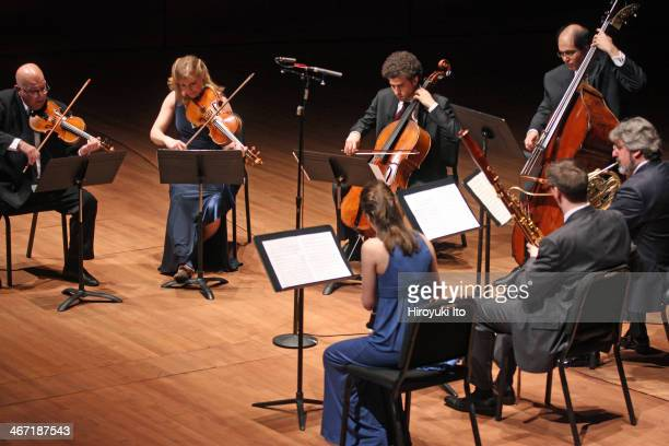 Chamber Music Society performing at Alice Tully Hall on Sunday afternoon January 26 2014This imageClockwise from far left Elmar Oliveira Cynthia...
