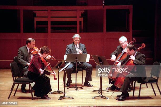 Chamber Music Society performing at Alice Tully Hall on Sunday afternoon December 3 2000This imageFrom left Paul Neubauer Ida Kavafian David Shifrin...