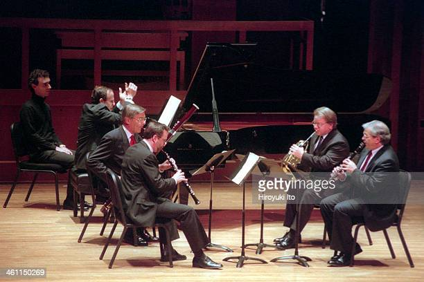 Chamber Music Society performing at Alice Tully Hall on Sunday afternoon December 3 2000This imageFrom left AndreMichel Schub Milan Turkovic Stephen...