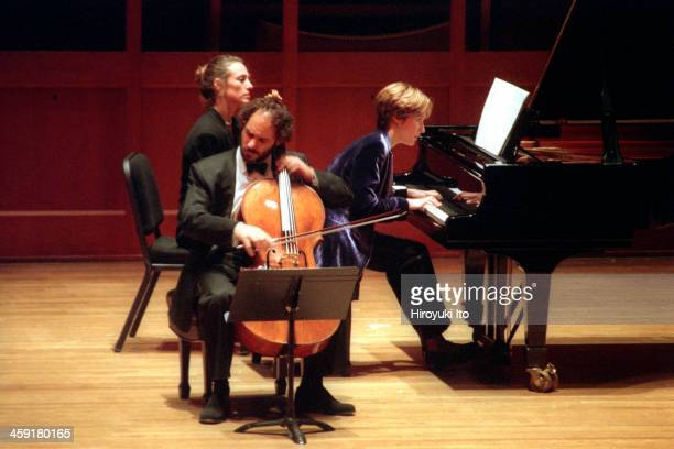 Chamber Music Society performing at Alice Tully Hall on Thursday night October 27 2000This imageGary Hoffman and Helene Grimaud performing Brahms's...