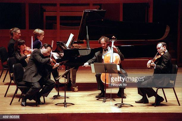 Chamber Music Society performing at Alice Tully Hall on Thursday night October 27 2000This imageFrom left Ani Kavafian Helene Grimaud ChoLiang Lin...