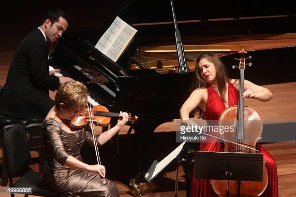 Chamber Music Society performing at Alice Tully Hall on Tuesday night, November 9, 2010.This image:From left, Inon Barnatan, Ida Kavafian and Alisa...