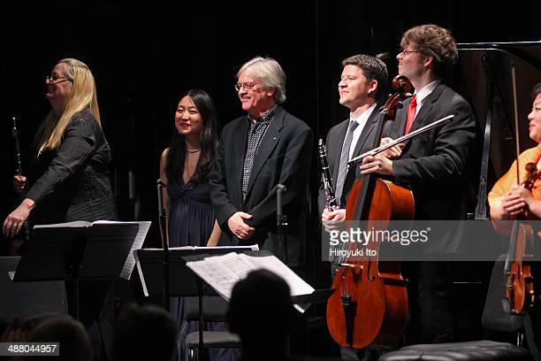 Chamber Music Society performing at Kaplan Penthouse on Thursday night April 17 2014This imageThe composer Fred Lerdahl third from left with from...