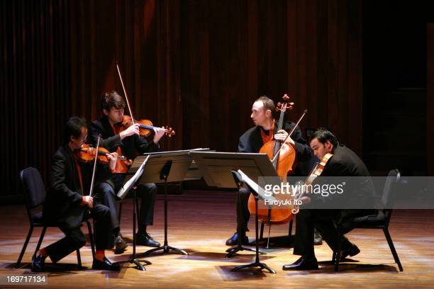 Chamber Music Society performing Harrison Birtwistle's 'Pulse Shadows Meditations on Paul Celan' on Friday night December 3 2004Flux Quartet are from...