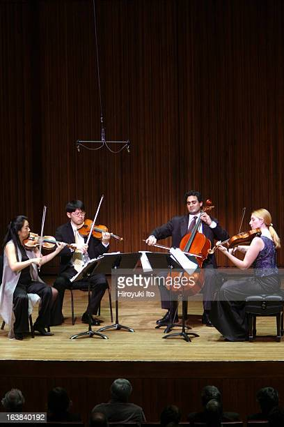 Chamber Music Society presents Daedalus Quartet at Alice Tully Hall on Wednesday night January 17 2007The quartet performed the music of Debussy...