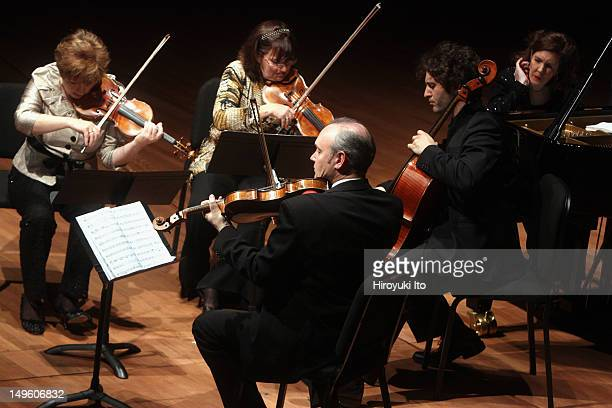 """Chamber Music Society presents """"Early Inspirations"""" at Alice Tully Hall on Friday night, March 25, 2011.This image:From left, Ida Kavafian, Ani..."""