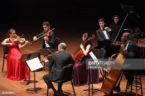 Chamber Music Society's season opening concert at Alice Tully Hall on Wednesday night, October 15, 2014.This image:The pianist Alessio Bax, with from...