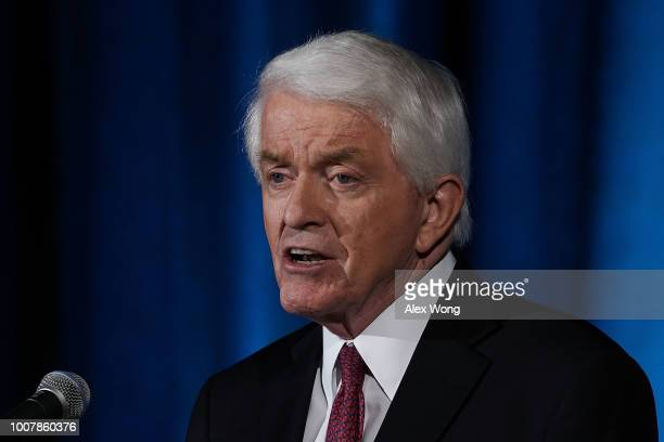 S Chamber of Commerce President and CEO Thomas Donohue speaks during the IndoPacific Business Forum at the US Chamber of Commerce July 30 2018 in...