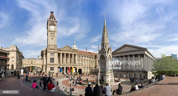 chamberlain square, central birmingham - west midlands stock pictures, royalty-free photos & images