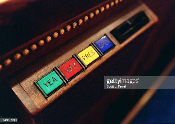 CHAMBEROne of the electronic voting devices used by members to vote on the House floor