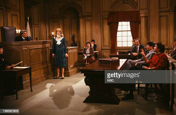 CHEERS 'Chambers vs Malone' Episode 13 Air Date Pictured Tom Troupe as Judge William E Grey Shelley Long as Diane Chambers Mark Arnott as Mark Ted...