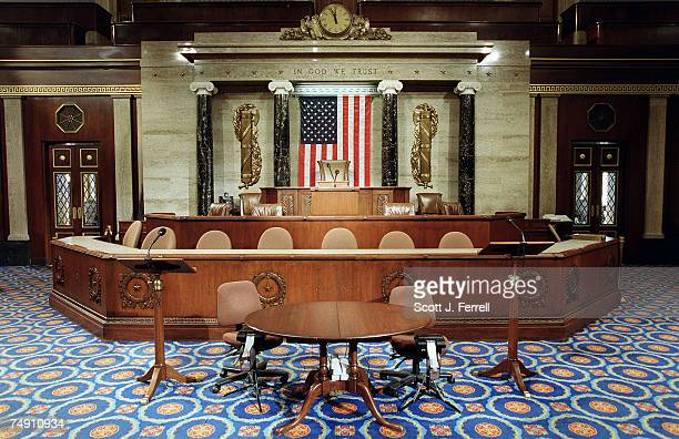 The Speaker's well on the House floor.