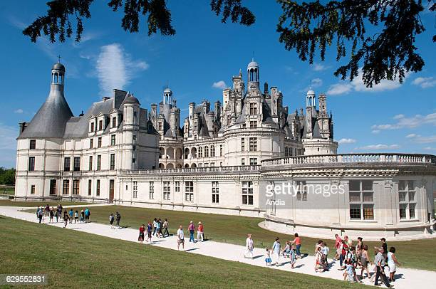 Chambord August 2010 Built in the heart of the largest enclosed wooded park in Europe it was erected by Francis I of France between 1519 and 1547...