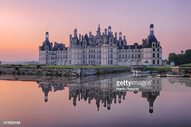 Chambord Castle (Chateau de Chambord), sunrise.
