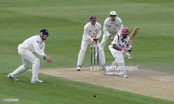 Chaminda Vaas of Northamptonshire pulls the ball during the LV County Championship Division Two match between Northamptonshire and Kent at the County...