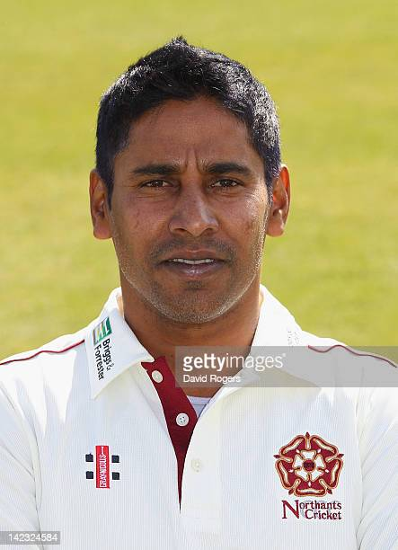 Chaminda Vaas poses for a portrait during the Northamptonshire CCC photocall on April 2 2012 in Northampton England