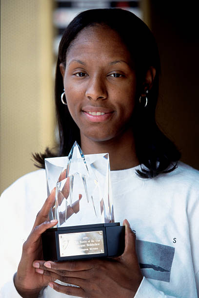 Chamique Holdsclaw 23 Of The Washington Mystics Recieves 1999 WNBA Rookie Year
