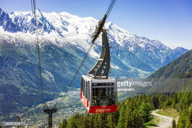 chamonix cable car - chamonix stock pictures, royalty-free photos & images