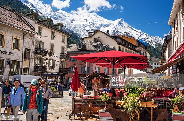 Chamonix, France, with Mont Blanc mountain