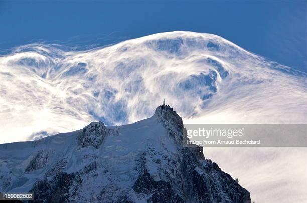 chamonix mont blanc / aiguille du midi - aiguille de midi stock photos and pictures