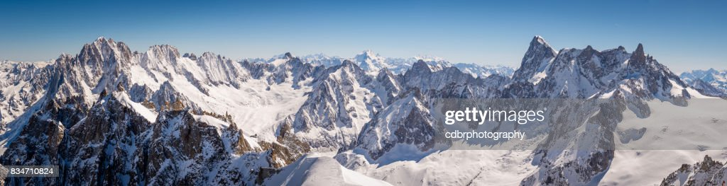 Panorama di Chamonix Mont Blanc : Foto stock