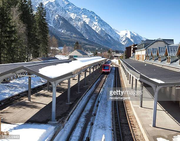 Chamonix station in french Alps.