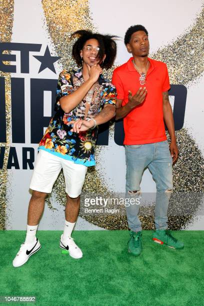 Champ and guest arrive at the BET Hip Hop Awards 2018 at Fillmore Miami Beach on October 6 2018 in Miami Beach Florida