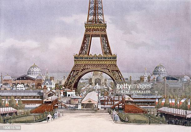 Champ de Mars viewed from the Trocadero during the Paris World Exposition 1889 France 19th century