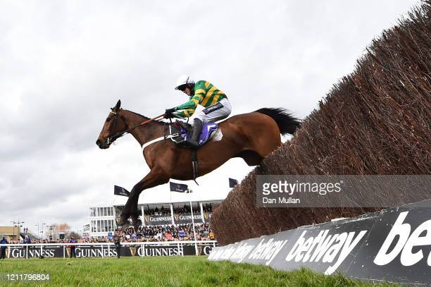 Champ ridden by Barry Geraghty on the way to winning the RSA Insurance Novices' Chase at Cheltenham Racecourse on March 11, 2020 in Cheltenham,...