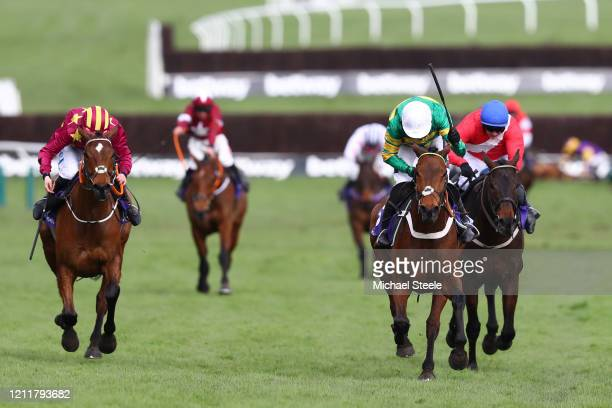 Champ ridden by Barry Geraghty wins the RSA Insurance Novices' Chase at Cheltenham Racecourse on March 11, 2020 in Cheltenham, England.