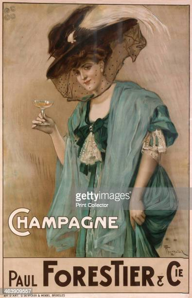 'Champagne' 19th century A poster design for the Paul Frestier and Co Poster company