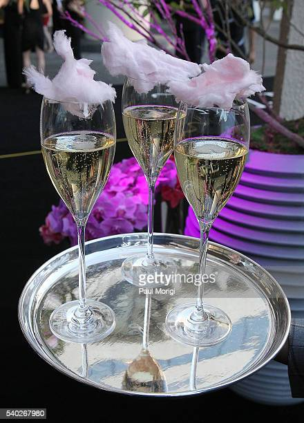 Champagne and cotton candy served at the grand reopening party of the iconic Watergate Hotel on June 14 2016 in Washington DC