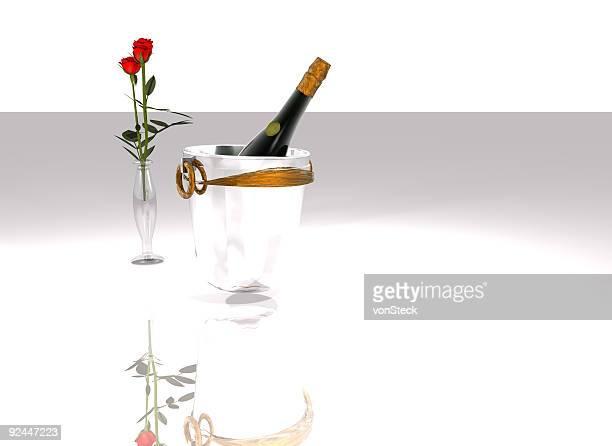 シャンペンとバラ