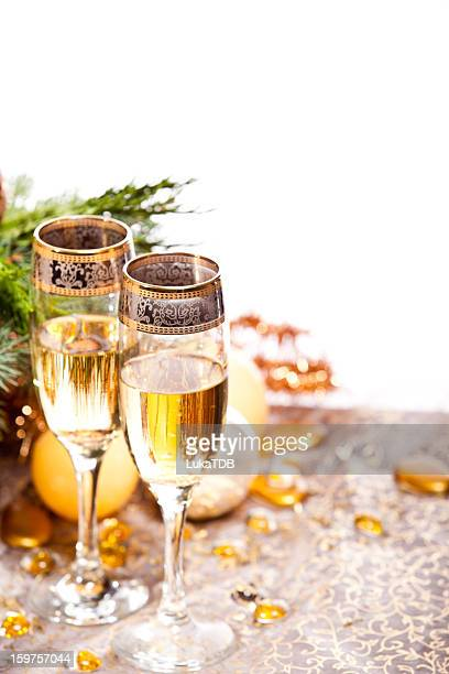 Champagner zu Weihnachten oder Silvester-Party