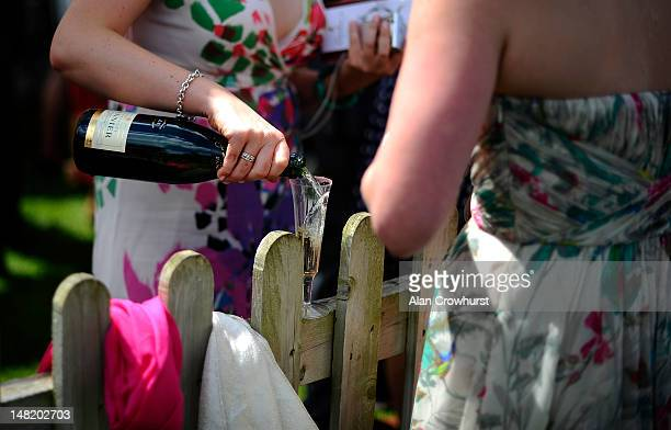 Champagne at Newmarket racecourse on July 12 2012 in Newmarket England