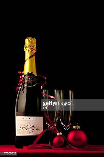 Gläser Champagner Flasche &