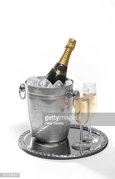Champagne bottle and bucket