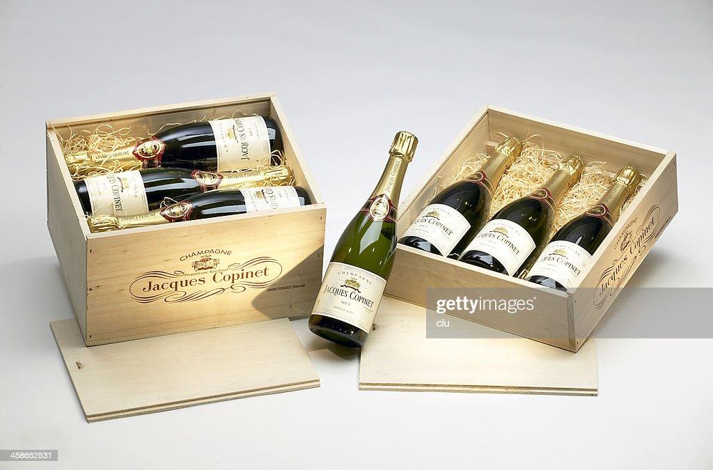 Champagne bottles : Stock Photo