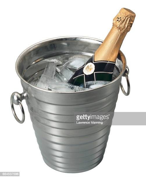 Champagne Chilling in Ice Bucket