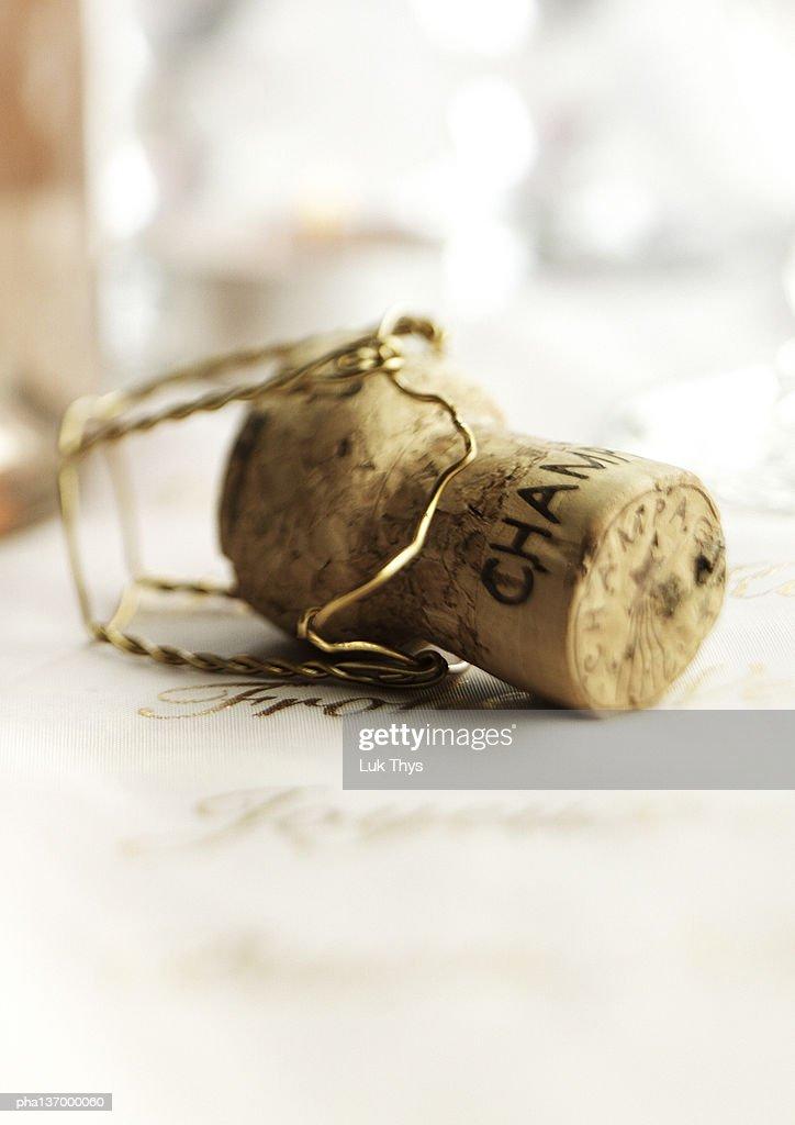 Champagne cork. : Stockfoto