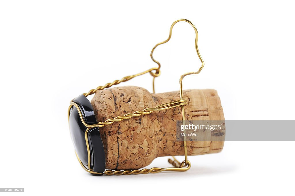 Champagne Cork Side View Close-Up : Stock Photo